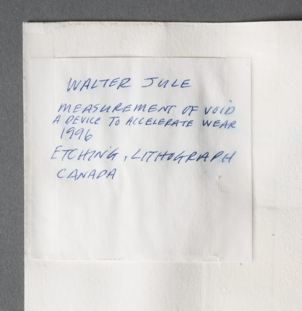 fig 18. The name label on the reverse side of the print had been written in blue ink that had dispersed due to moisture.