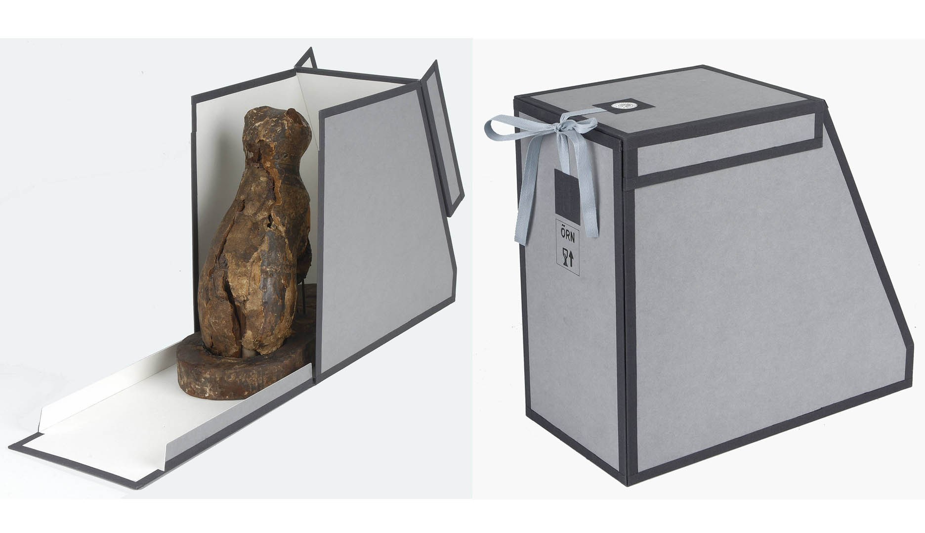 fig 14. A special case for keeping the sarcophagus was also made.