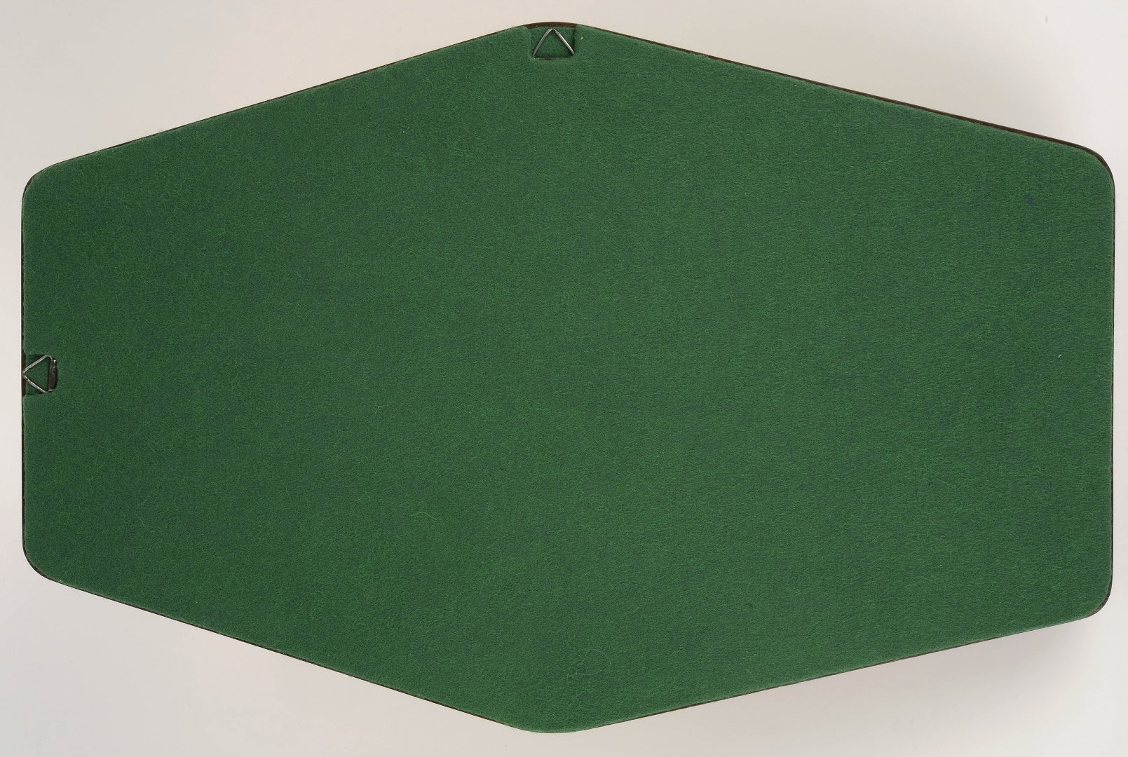 fig 46. The reverse side of the new base was covered with green broadcloth and provided with two hanging loops.