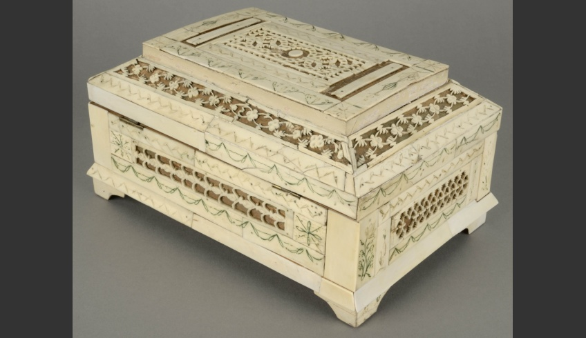 fig 23. The back of the casket after conservation.The target of conservation was to restore the entity of the museum piece, granting that it would be possible to exhibit it again as an original and beautiful object